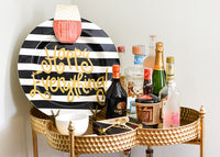 Black Stripe Happy Everything!™ Big Platter with Champagne Big Attachment