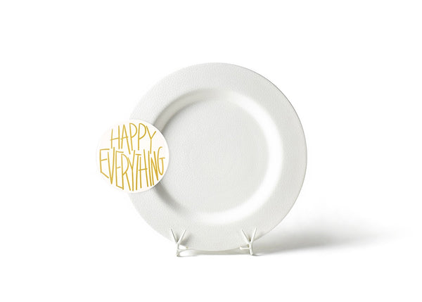 White Small Dot Big Entertaining Platter with Happy Everything!™ Big Attachment