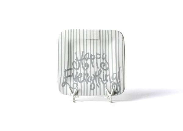 Stone Skinny Stripe Happy Everything!™ Mini Platter