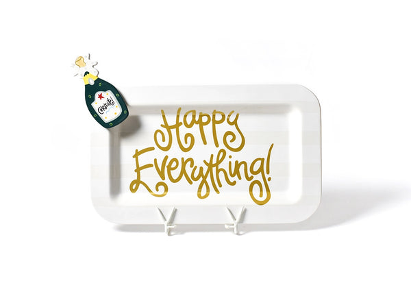 White Stripe Happy Everything!™ Mini Rectangle Platter with Champagne Mini Attachment