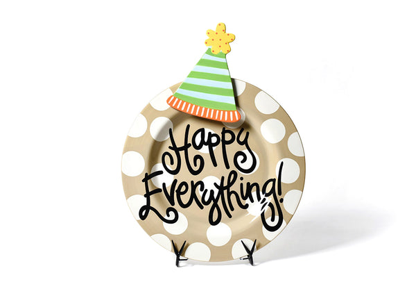 Neutral Dot Happy Everything!™ Big Platter with Party Hat Big Attachment