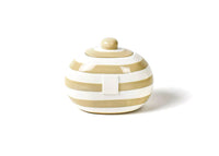 Neutral Stripe Mini Cookie Jar