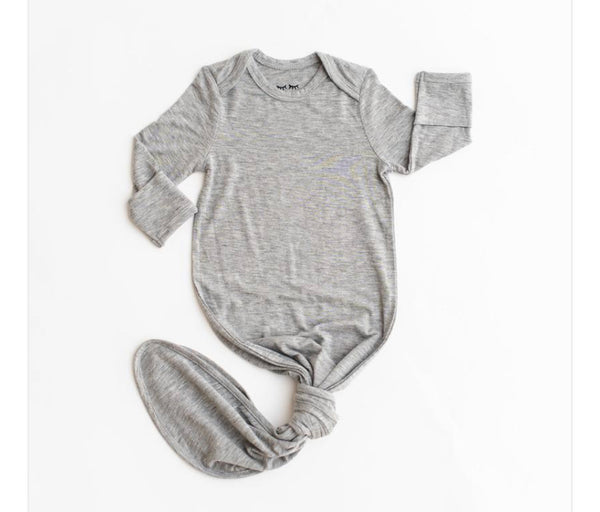 Infant Knoted Gown - Grey