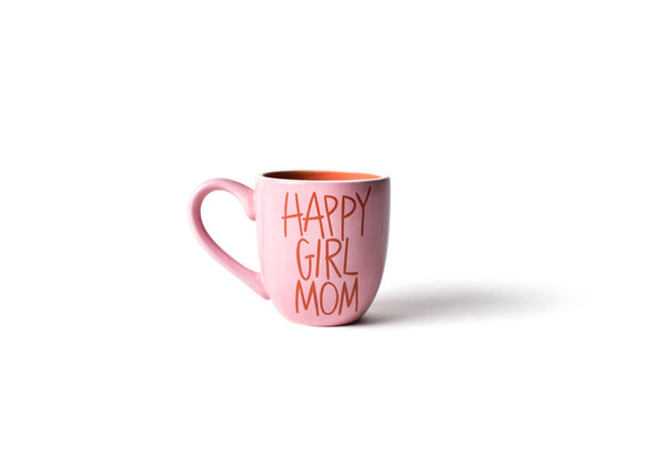 Pink Happy Girl Mom Mug