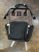 Diaper Backpack - leopard/black