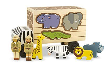 Safari Animal Shape Sorter Rescue Truck