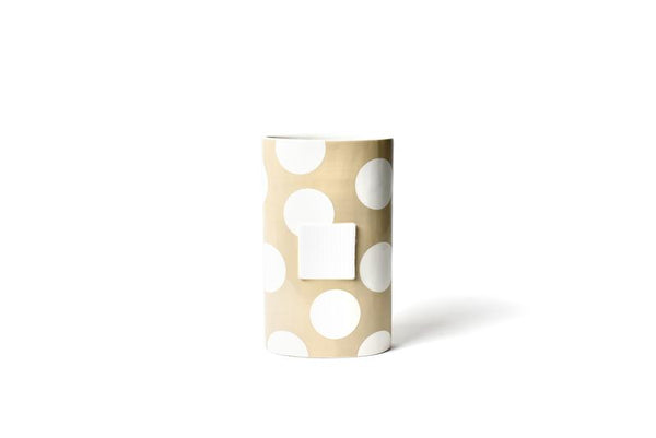 Neutral Dot Big Oval Vase