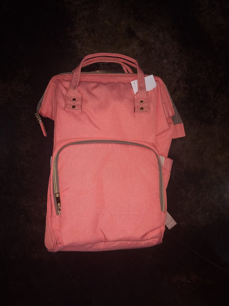 Diaper Backpack - peach