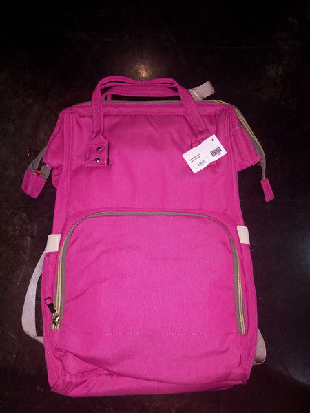 Diaper Backpack - h. pink
