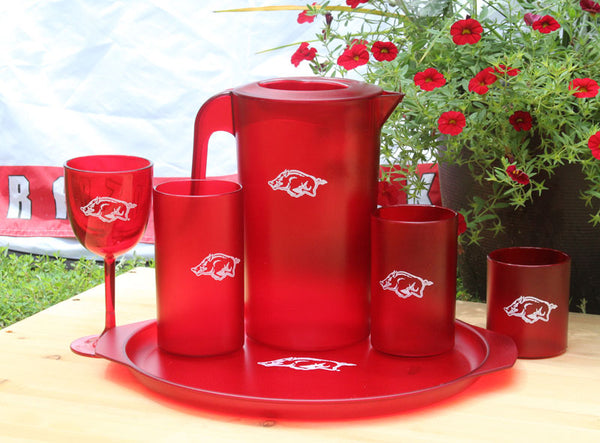 Bentley Collegiate University of Arkansas Drinkware – Ruby