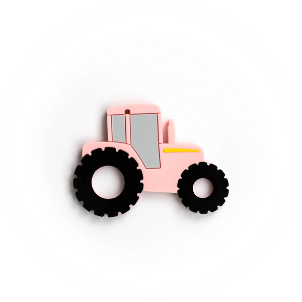 Baby Boos Pink Tractor Teether
