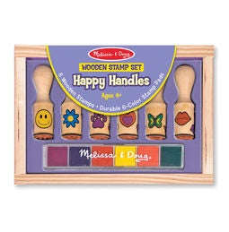 Wooden Stamp Set- Happy Handles