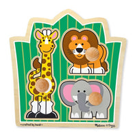 Jungle Friends Jumbo Knob Puzzle- 3 Pieces