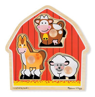 Barnyard Animals Jumbo Knob Puzzle- 3 Pieces