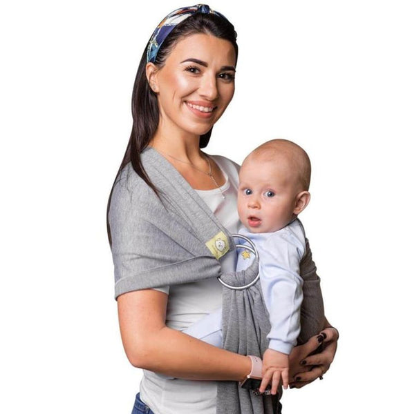 Baby Ring Sling Wrap Carrier (Classic Gray)