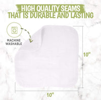 Deluxe Baby Washcloths (Soft White)
