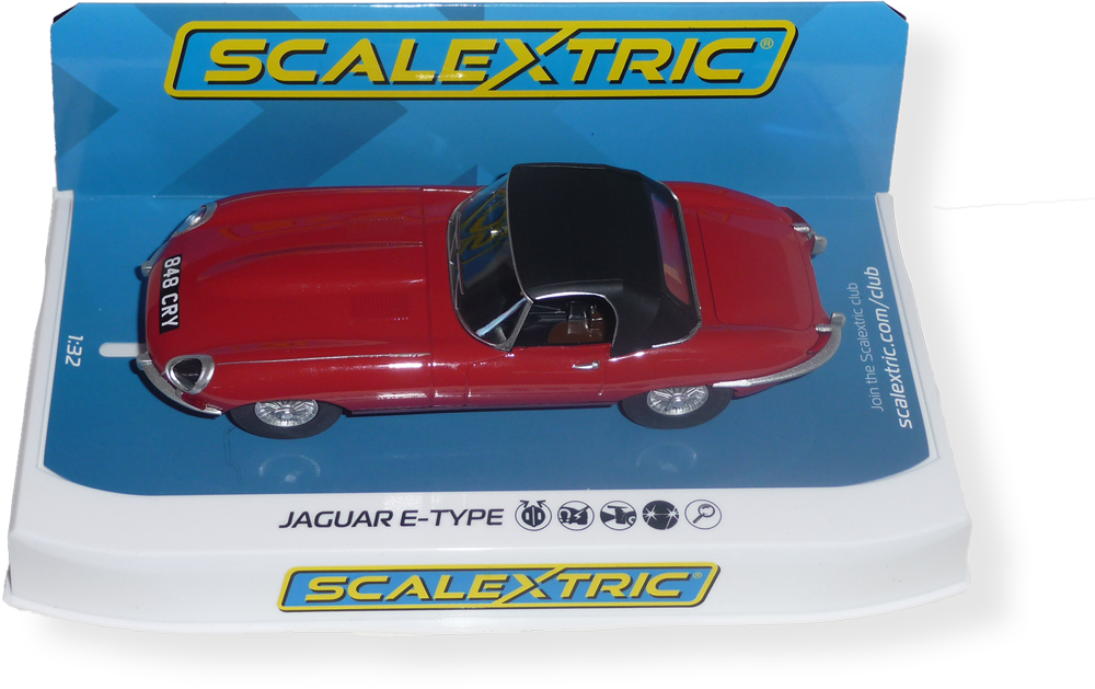 SCALEXTRIC  - Jaguar E Type - red