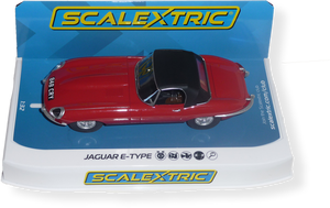 "SCALEXTRIC  - Jaguar E Type - red ""848CRY"" - FlatoutSlotCars"