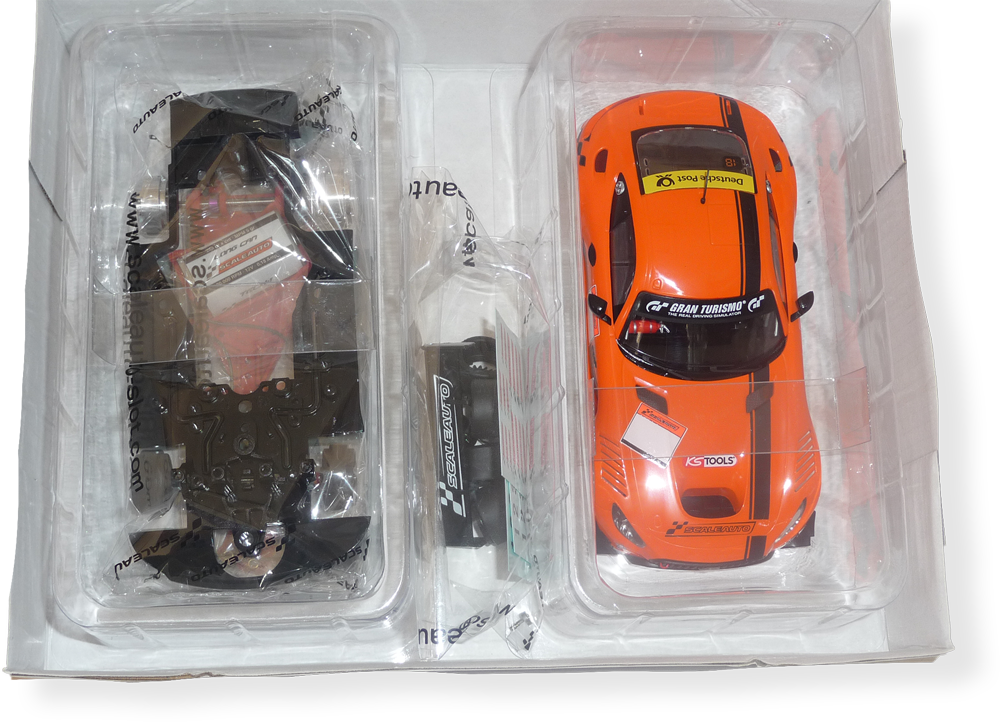 Scaleauto SC6218d Mercedes AMG GT3 - Orange - FlatoutSlotCars