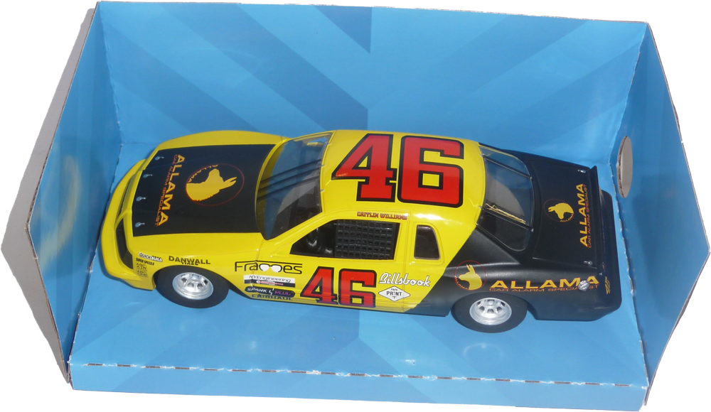 Ford Thunderbird - #46 yellow and black C4088 - FlatoutSlotCars