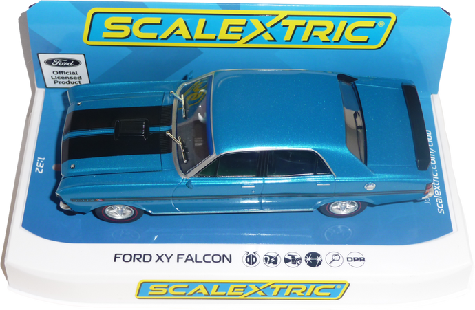 C4171 - Ford XY Falcon GT HO Phase III Electric Blue - FlatoutSlotCars