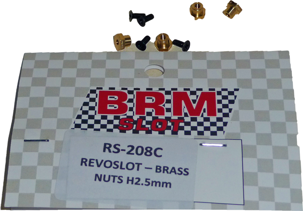 Copy of RS-208C RevoSlot Brass nuts H2.5mm