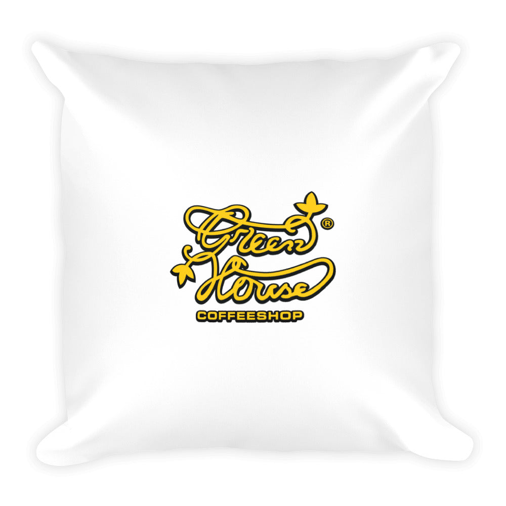 Square Greenhouse coffee Shop Pillow