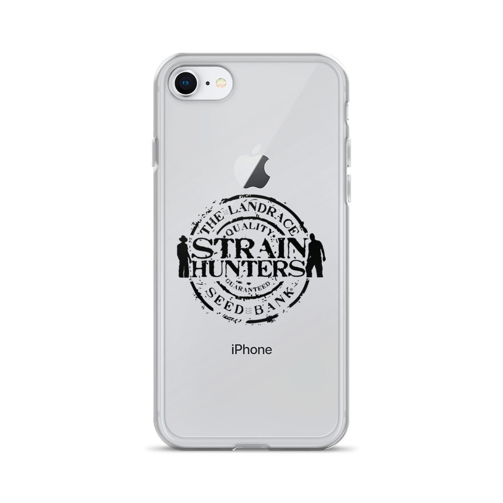 Strainhunters iPhone Case black logo