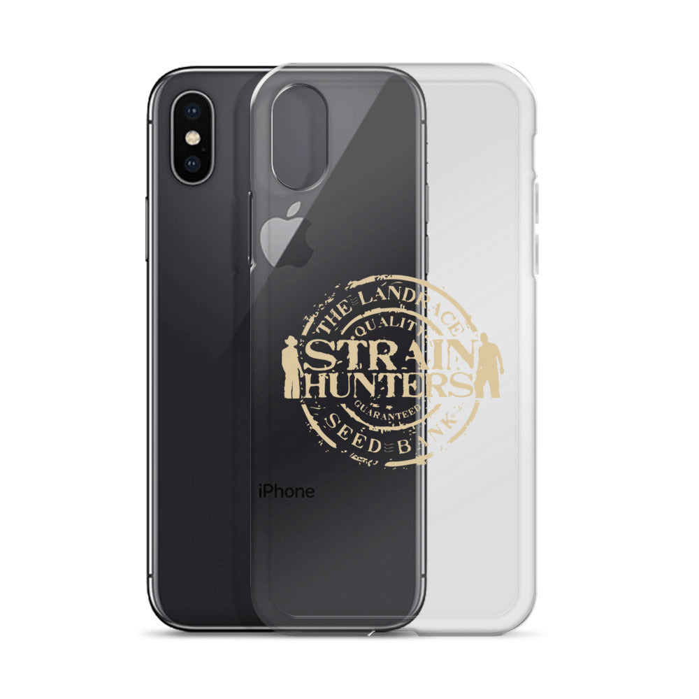 Strainhunters iPhone Case white logo