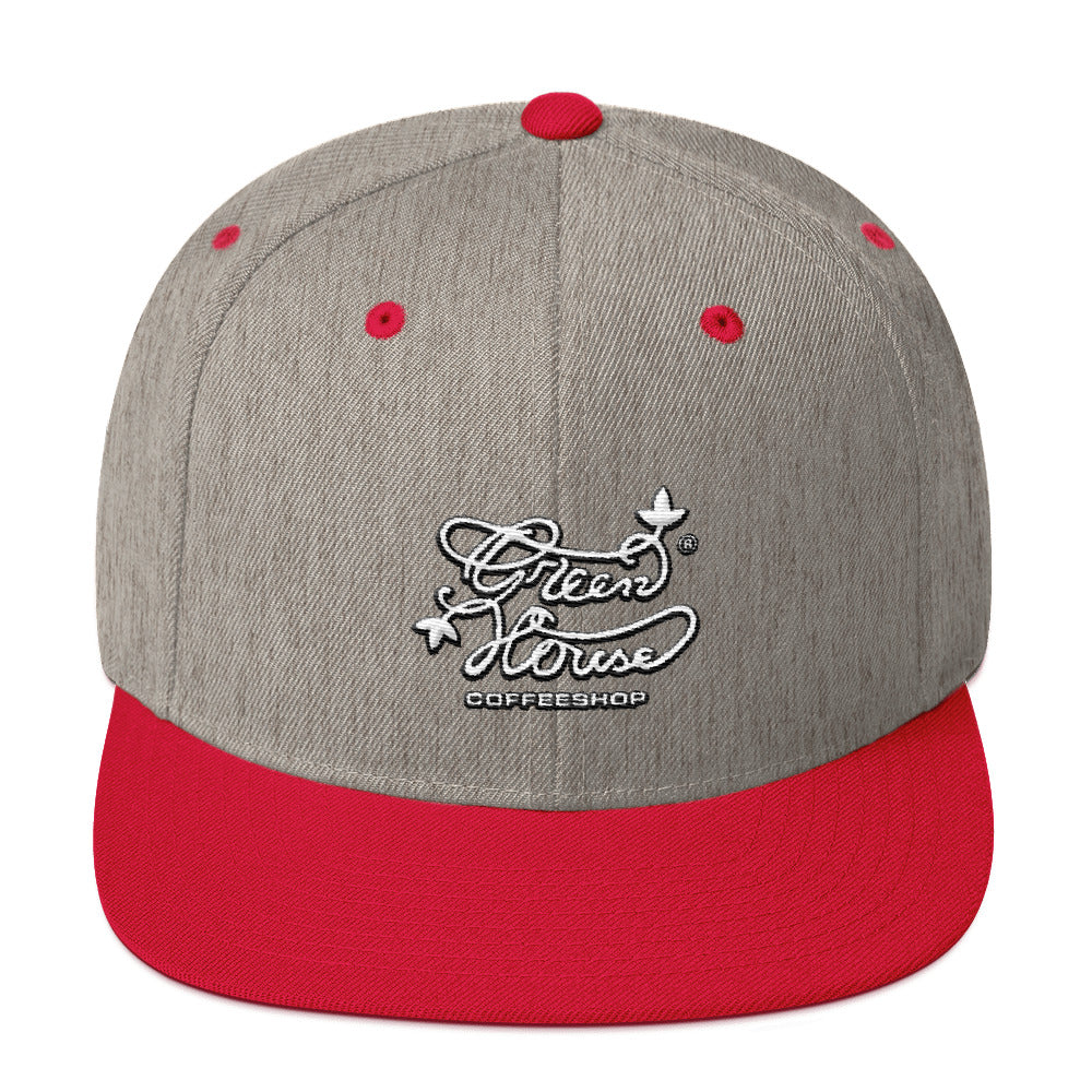 Greenhouse coffee shop Snapback Hat