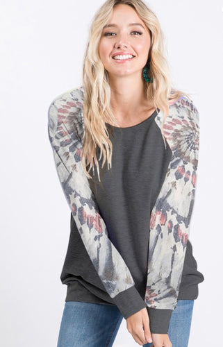 Multi-Print Sleeve Top