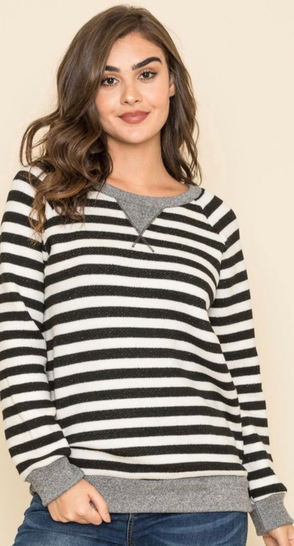 Stripe Terry Tunic
