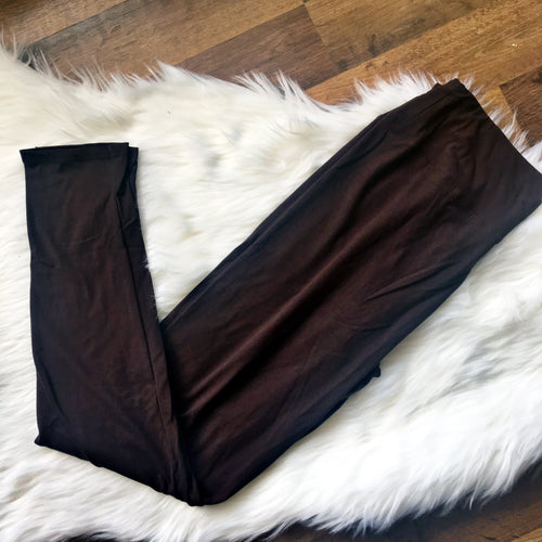 Brown Leggings Plus