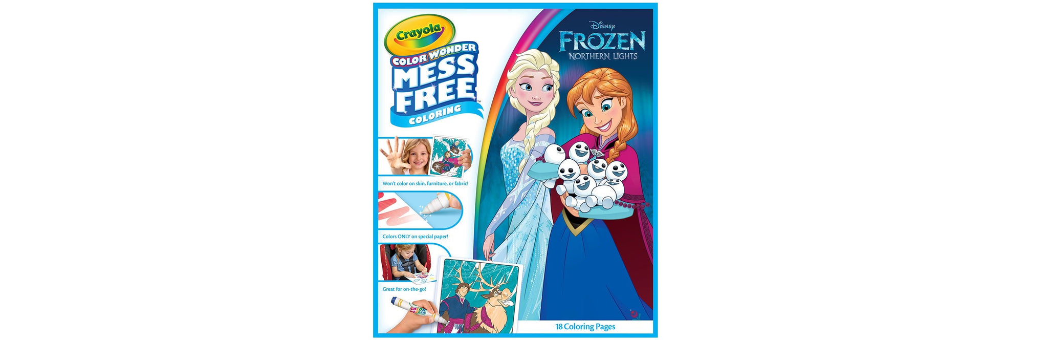 Crayola Color Wonder Coloring Pad Markers Frozen The Write Things