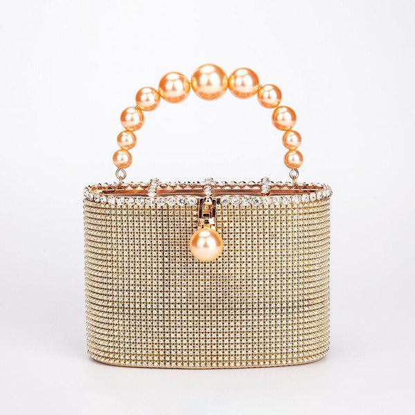 Ms. Latoya Gold Chandelier Evening Bag