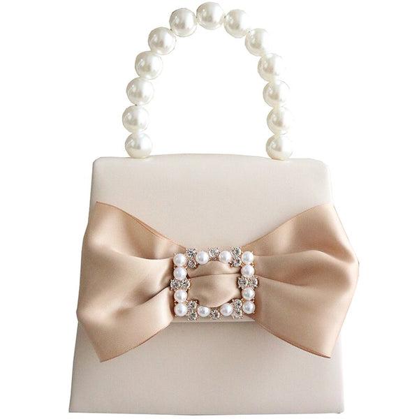 Champagne Satin Latoya Mira Grace Bag