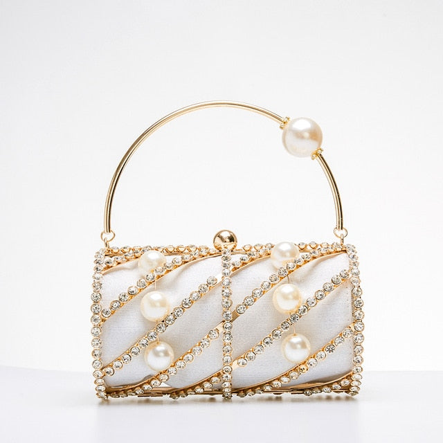 Macaronmillion Diamond Rouge Evening Bag