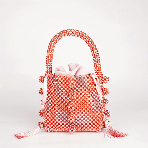 Tropez Mille Cherry Pink Satin Latoya Mirage Tote Bag