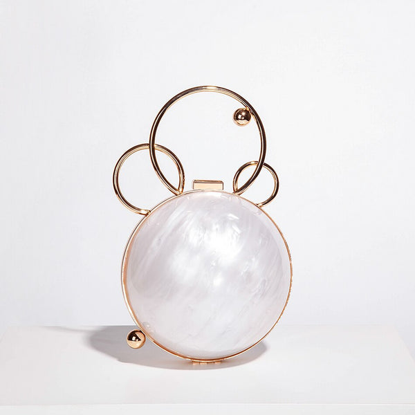 Saint Tropez Mother-of-Pearl Caviar Gold Bag