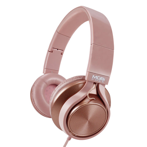 AUDIFONOS ON-EAR CON MICROFONO COLECCION METALICOS ROSA