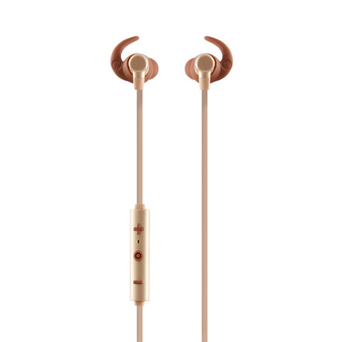 AUDÍFONOS IN-EAR BT CON MICRÓFONO COLECCION METALICOS DORADO