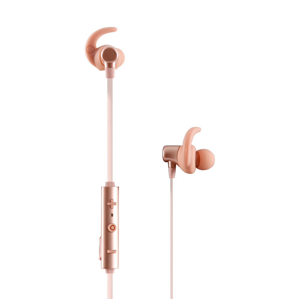 AUDÍFONOS METALLIC IN-EAR BLUETOOH ROSA