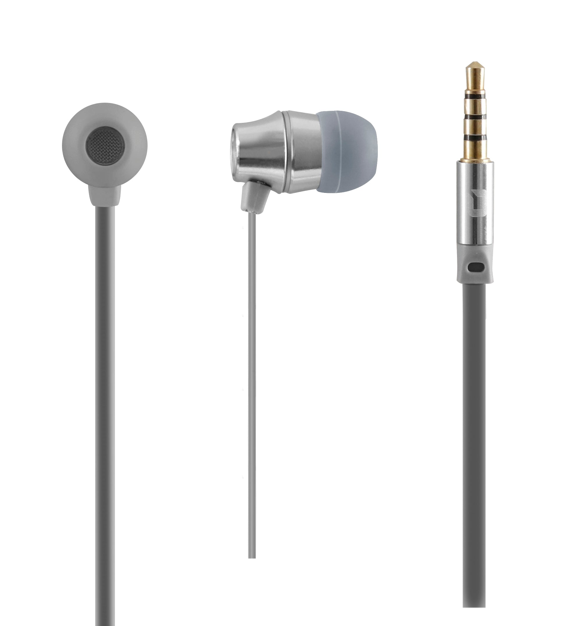 AUDIFONOS IN-EAR CON MICROFONO COLECCION METALICOS GRIS
