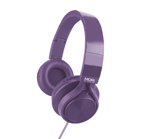 AUDIFONOS ON-EAR CON MICROFONO COLECCION METALICOS MORADO