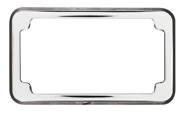 Beveled Blind Hole License Plate Frame