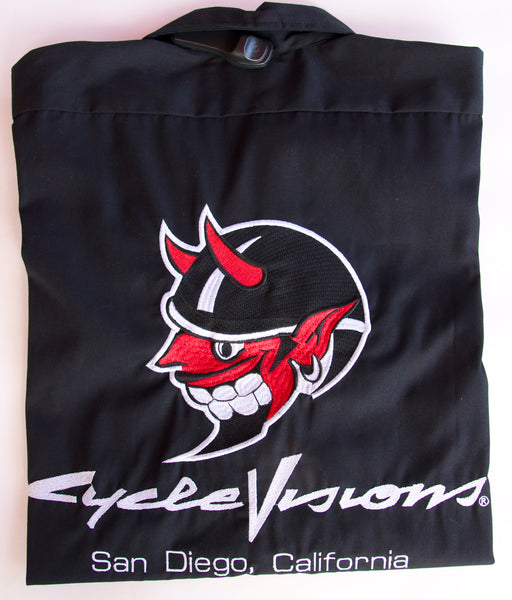 Devil Embroidered Work Shirt