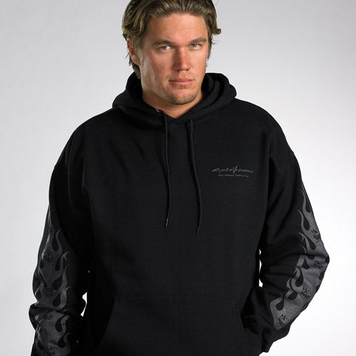Black on Black Devil Hooded Sweatshirt