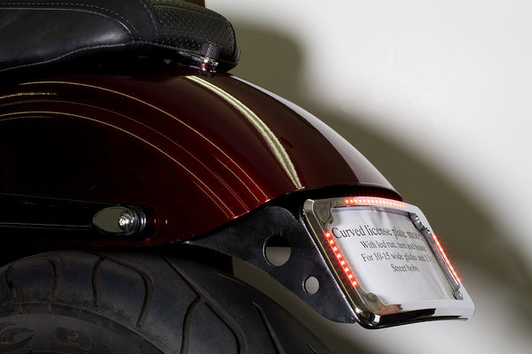 Curved License Plate Relocation for Dyna