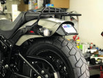Curved License Plate Relocation For Softails