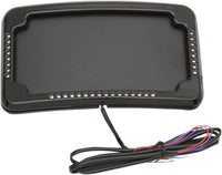 Curved 3 Hole License Plate Mount With Lights